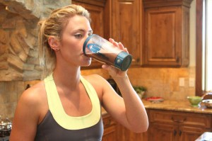 woman-drinks-whey-protein
