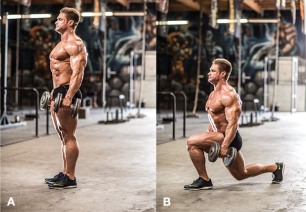 extreme-leg-workout-dumbbell-reverse-lunge