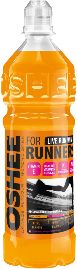 OSHEE 750 ml RUNNERS orange_2016