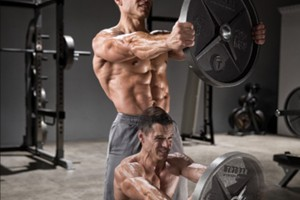 Plate-front-raise-hold-squat