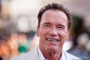 "SAN DIEGO, CA - JULY 18:  Arnold Schwarzenegger arrives for the ""Escape Plan"" Premiere - Comic-Con International 2013 at Reading Cinemas Gaslamp on July 18, 2013 in San Diego, California.  (Photo by Gabriel Olsen/FilmMagic)"